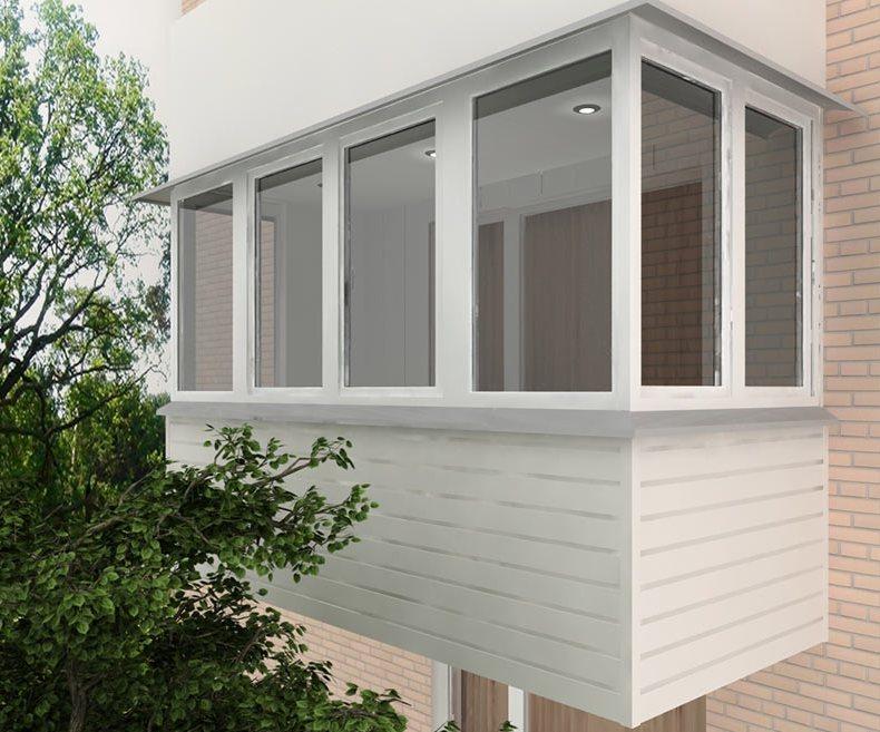 Готовые пластиковые окна для балкона